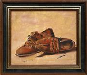 Sale 8699 - Lot 2058 - Mayo Smith - Still Life - Peasant Shoes 24 x 29cm