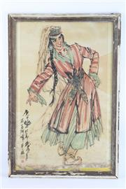 Sale 8802 - Lot 296 - A Framed Chinese Work of A Lady ( 43cm x 64cm)