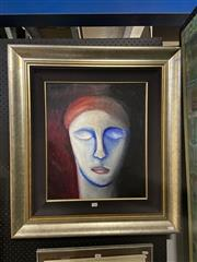 Sale 8924 - Lot 2052 - Artist Unknown - Pensive acrylic, signed -
