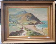 Sale 9019 - Lot 2001 - Laszlo (Les) Lukacs Coastal Scene and Cottage 1958 oil on canvas on board, 47 x 60cm (frame), signed and dated lower right