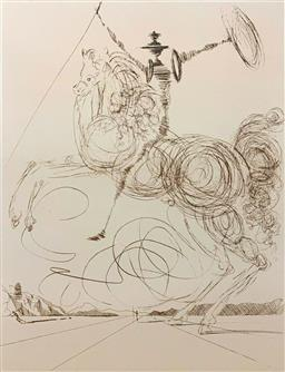 Sale 9108A - Lot 5021 - Salvador Dali (1904 - 1989) - Don Quixote 66 x 51 cm