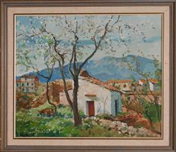 Sale 9113 - Lot 2006 - Harry Marriott-Burton - Cottage, 1958 37 x 44.5 cm, frame: 46 x 54 2 cm