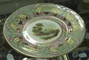 Sale 8320 - Lot 919 - Hand painted English porcelain plate, decorated with landscape 1835