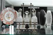 Sale 8324 - Lot 56 - Crystal Cut Condiment Set
