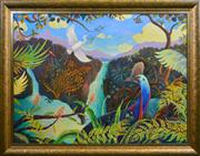 Sale 8420 - Lot 517 - Heinz Steinmann (1943 - ) - Babinda Hillside 90 x 121cm