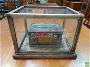 Sale 8607 - Lot 1049 - Small Glass Display Cube, marked Arnotts -