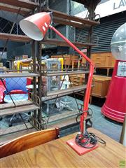 Sale 8625 - Lot 1035 - Orange Planet Lamp -