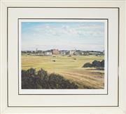 Sale 8953 - Lot 2063A - Graham Baxter - The Old Course St Andrews 43.5 x 55 cm (frame: 75 x 83 x 5 cm)