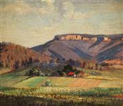 Sale 9021 - Lot 598 - Herbert Kemble (1894 - 1986) - Landscape, NSW, 1937 31.5 x 36.5 cm (frame: 37 x 42 x 2 cm)