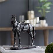 Sale 9075T - Lot 42 - A black resin horse on base H: 24x W: 23x D:10