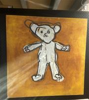 Sale 9087 - Lot 2031 - Kate D Teddy acrylic on canvas  70.5 x 70.5 cm signed om stretched verso