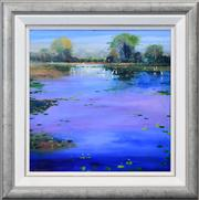 Sale 8286 - Lot 524 - Colin Parker (1941 - ) - Kakadu Wetlands 60 x 60cm