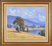 Sale 8339A - Lot 574 - Leonard Long (1911 - 2013) - Backwater, Murray River NSW, 1973 39.5 x 49.5cm