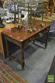 Sale 8398 - Lot 1042 - Hall Table w 3 Drawers on Turned Base