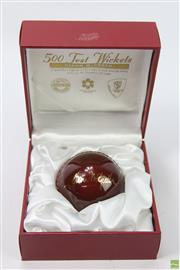 Sale 8618 - Lot 20 - Glenn McGrath 500 Test Wicket Edition with ball, boxed (Legends)