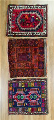 Sale 8625C - Lot 35 - 3 x Persian Door Mats 60cm x 50cm