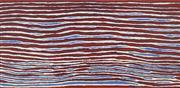 Sale 8718 - Lot 532 - Alice Nampitjinpa Dixon (c1942- ) - Hairstring - Men Travelling, 2006 acrylic polymer paint on linen