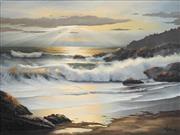 Sale 8867 - Lot 585 - William Hoffman - Seascape 75 x 98 cm