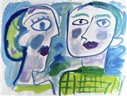 Sale 8839A - Lot 5030 - Anthony (Tony) Tuckson (1921 - 1973) - Two Heads (TD1720), 1955 40.5 x 50.5cm