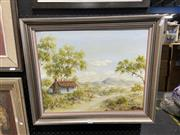 Sale 8995 - Lot 2079 - Dorothy Tate - Little Grey Home in the West, oil on board, signed, 40x50cm