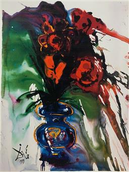 Sale 9108A - Lot 5005 - Salvador Dali (1904 - 1989) - Galas Bouquet 86 x 60 cm