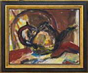 Sale 8382 - Lot 539 - Kevin Connor (1932 - ) - The Tea Pot, 1988 35.5 x 45.5cm
