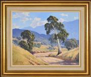 Sale 8339A - Lot 516 - Leonard Long (1911 - 2013) - Road to Wee Jasper Hills, 1973 39.5 x 49.5cm