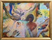 Sale 8411A - Lot 5031 - Heinz Steinmann (1943 - ) - Oolana - Legend of Babinda 90 x 120.5cm