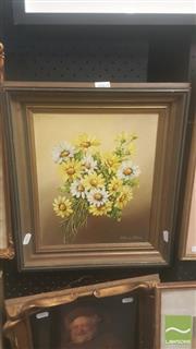 Sale 8446 - Lot 2065 - (2 works) Althea Allen (XX) & Artist Unknown (XX) - Marguerites; Clown 29 x 24cm;