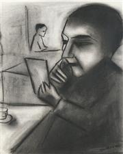 Sale 8504 - Lot 553 - Robert Dickerson (1924 - 2015) - The Letter 36 x 29cm