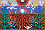 Sale 8575 - Lot 548 - John Coburn (1925 - 2006) - Tree of Life, 1988 48 x 72cm