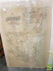 Sale 8491 - Lot 2078 - Early Map of The South Eastern Tourist District, NSW, colour lithograph (AF) (unframed), 80 x 50cm