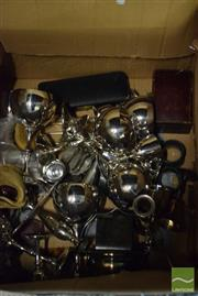 Sale 8518 - Lot 2309 - Collection of Silver Plated Wares incl Cups, Napkin Rings, Coasters etc