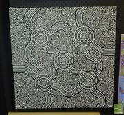 Sale 8522 - Lot 2048 - Bundjalung - Untitled 60.5 x 60.5cm (stretched & ready to hang)