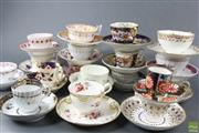 Sale 8599 - Lot 23 - 18th & 19th Century Collection Of Porcelain Teacups And Saucers