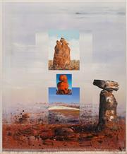 Sale 8652 - Lot 536 - Ken Johnson (1950 - ) - Art of Balance, 1990 152.5 x 122cm