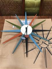 Sale 8822 - Lot 1800 - Starburst Clock