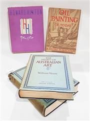 Sale 8822B - Lot 852 - 4 Volumes incl. vols 1 & 2 Moore, W. The Story of Australian Art, pub. A&R, 1934; A Memorial Volume to Howard Hinton Patron of Ar..
