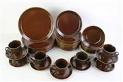Sale 8840 - Lot 39 - Crown Lynn Forma/Pioneer Brown Glazed 47 Piece Dinner Service