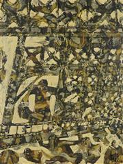 Sale 8892 - Lot 505 - Rodney Milgate (1933 - 2015) - Hippie Bridge, 1969 60 x 44 cm