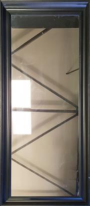 Sale 8979 - Lot 1046 - Modern Timber Framed Mirror (h:166 x w:60cm)