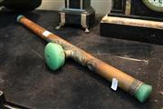Sale 8304 - Lot 73 - Jade & Bamboo Opium Pipe