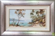 Sale 8604 - Lot 2037 - William Golding (1928 - ) Fishing at the Bay, oil on canvas board, 40 x 60cm (frame), signed lower right