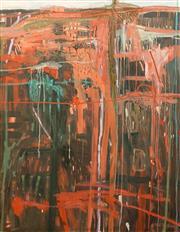 Sale 8642 - Lot 511 - Gail English (1939 - ) - Red Paddock Turning Green 150.5 x 119.5cm