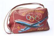 Sale 8670 - Lot 3 - A Vintage Olympic Games, Rome 1960 / Qantas 707 Jet toiletry bag, H 20 x W 40cm