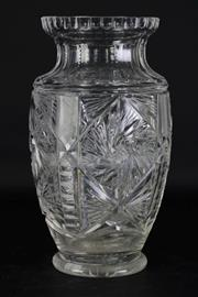 Sale 8977 - Lot 67 - A Large Bohemian Cut Glass Vase (H 34cm)