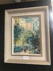 Sale 9011 - Lot 2050 - Wilmotte Williams (1916 - 1992) - Rain in Surry Hills frame: 28 x 23 cm
