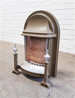 Sale 9112 - Lot 1089 - Cast iron faux fire insert (h:66 w:45cm)