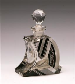 Sale 9114 - Lot 86 - Crystal Art Deco Style Perfume Bottle