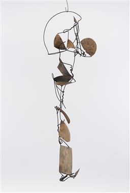 Sale 9221JM - Lot 5089 - ARTIST UNKNOWN (D.T) Abstract, 2000 painted metal and wire h. 35, l.115, w. 25 cm initialled